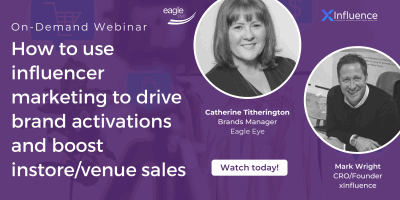 On-Demand Webinar: How to use influencer marketing to drive brand activations and boost instore/venue sales
